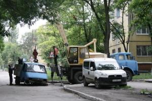 Bogdan Khmelnitsky Street - cleaning