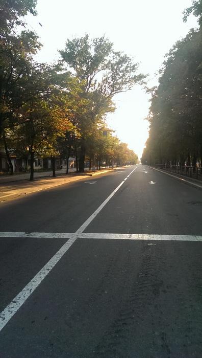Донецк пустая улица