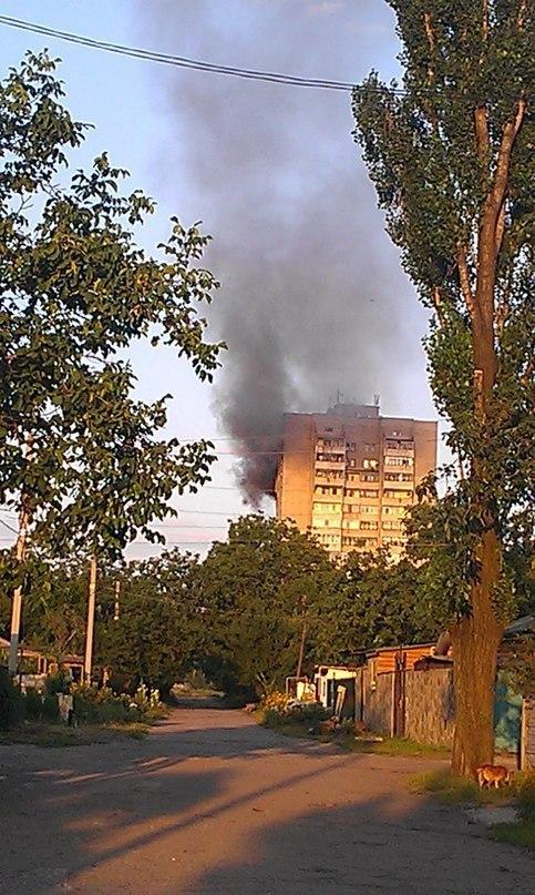 Shahtersk - shelling separatists city