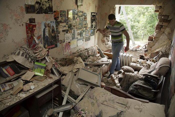 Lugansk destruction