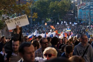 Peace March in Moscow on September 21