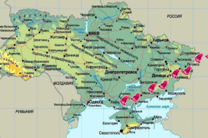 Ukraine - the road to the Crimea on the blood
