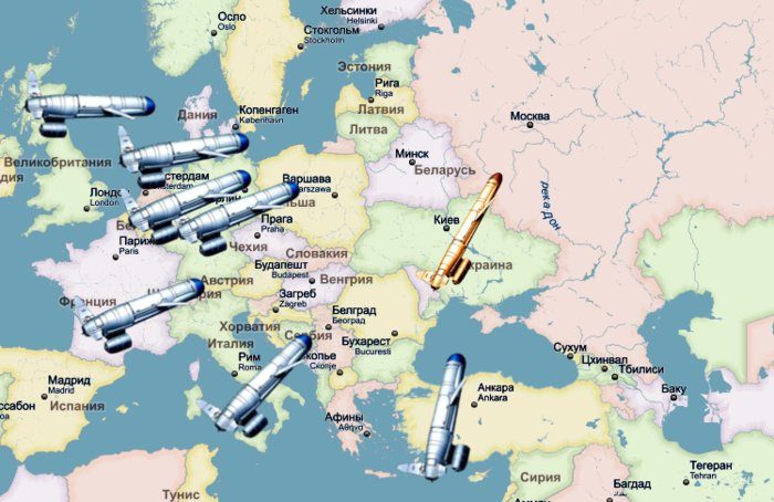Ukraine map nukes