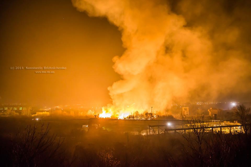 Пожар Краматорск НКМЗ склад моделей 2