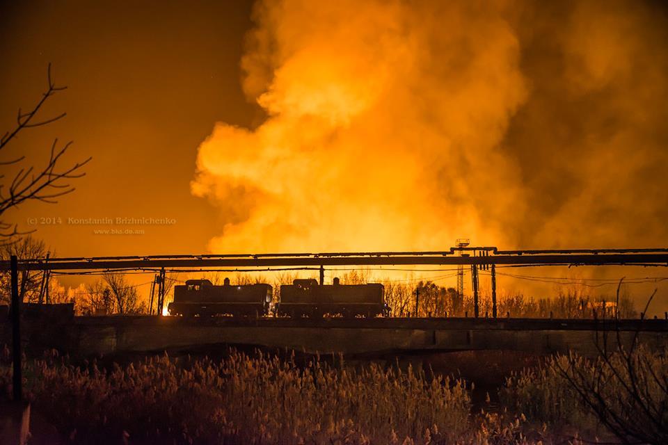 Пожар Краматорск НКМЗ склад моделей 3