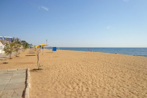 Crimea empty beach
