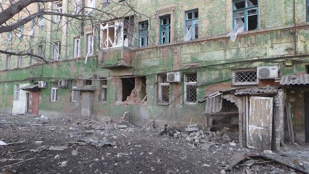 Дебальцево оккупированное российскими войсками