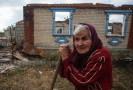 Донбасс, дом разбитый миной