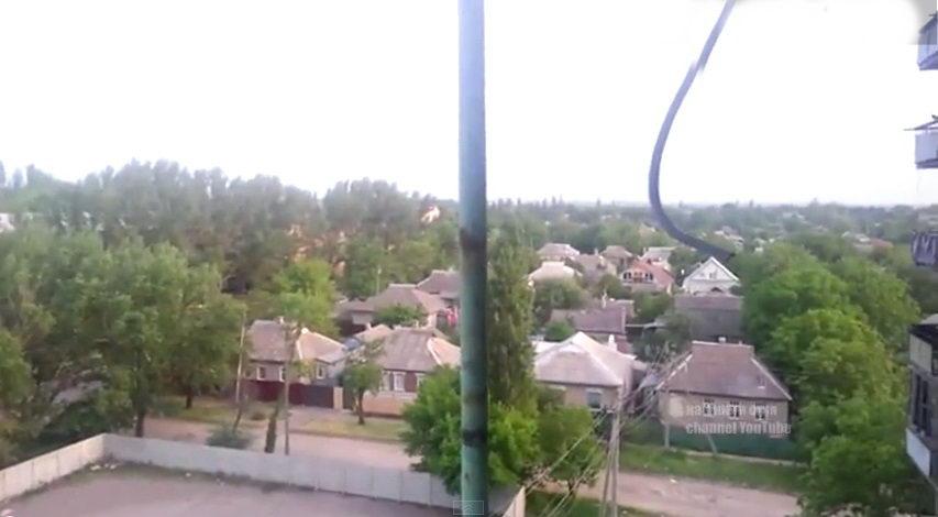 Обстрел Горловки сепаратистами 26 мая