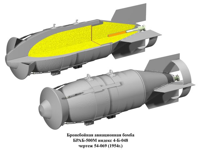 БРАБ-500М - бронебойная авиационная бомба