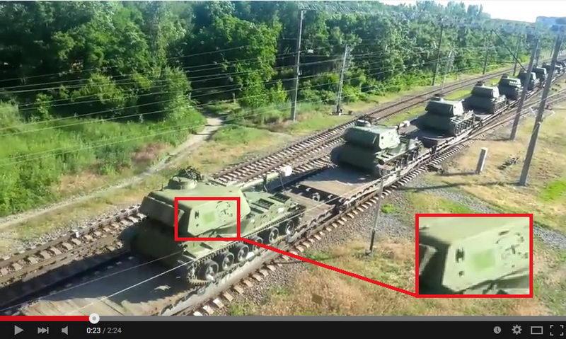 российская военная техника Таганрог - Иловайск - закрашенные номера
