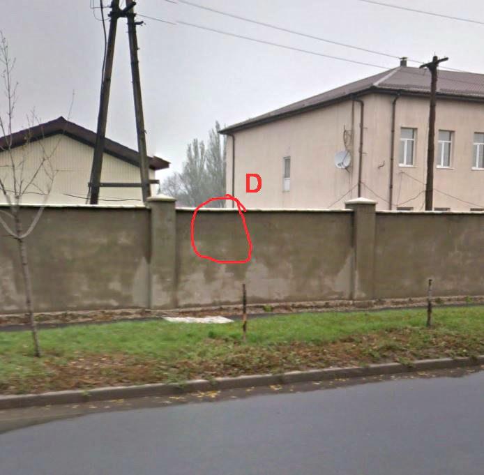 Место съемки улица Стратонавтов, Донецк, воинская часть