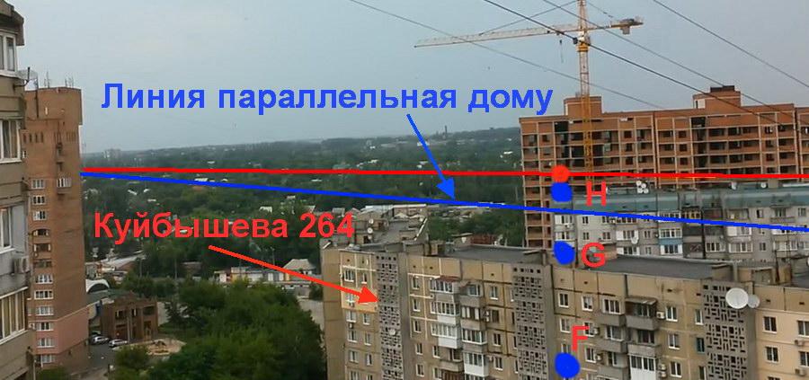 Точка съемки пролета снаряда Куйбышева 264